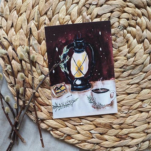 Lantern | Kerst kaartje