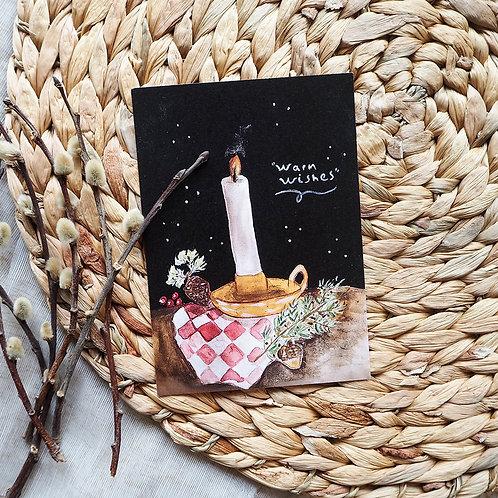 Warm wishes | Kerst kaartje