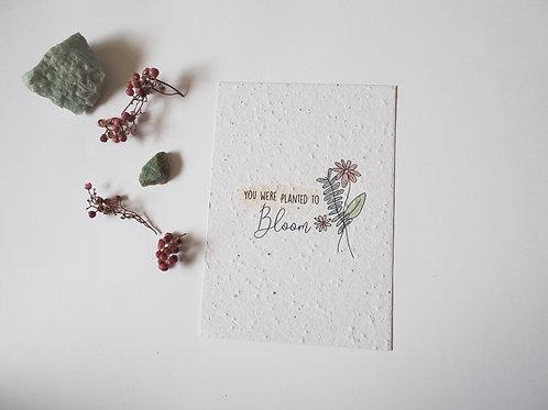 Bloom | Bloei kaartje