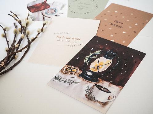 Joy to the world | Kerst kaarten set