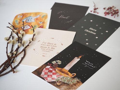 Warm wishes | Kerst kaarten set