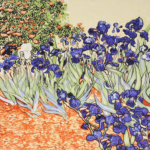 "Carré Vincent Van Gogh ""Les Iris"""