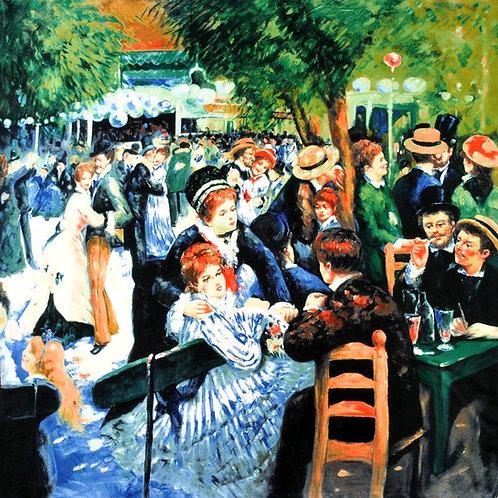 """Carré Auguste Renoir """"Bal du moulin de la Galette"""""""