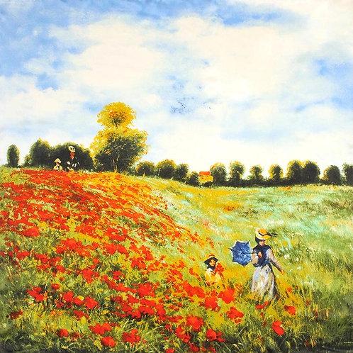 """Carré Claude Monet """"Les Coquelicots"""""""