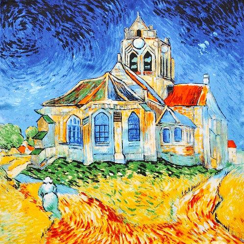 """Carré Vincent Van Gogh """"L'Église d'Auvers-sur-Oise"""""""