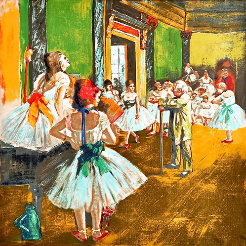 """Carré Edgard Degas """"Le cours de danse"""""""