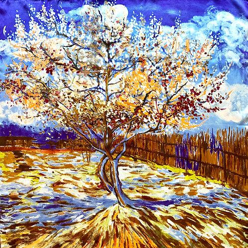 """Carré Vincent Van Gogh """"Pêcher en fleur"""""""