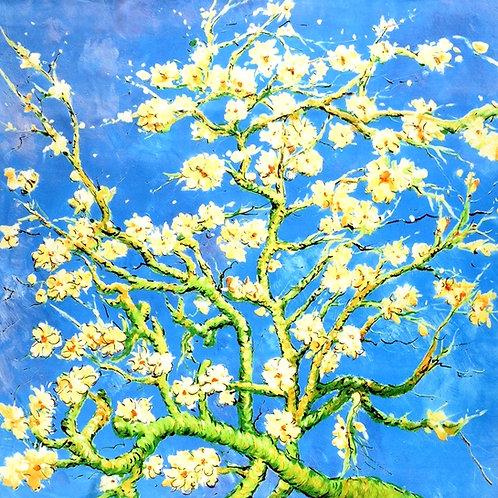 """Carré Vincent Van Gogh """"Amandier en fleurs"""""""