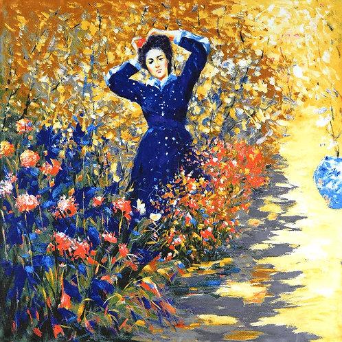 """Carré Auguste Renoir """"Dame en bleu"""""""