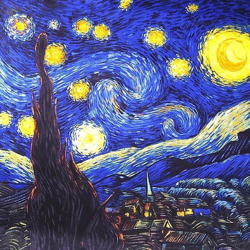 """Carré Vincent Van Gogh """"La nuit étoilée"""""""