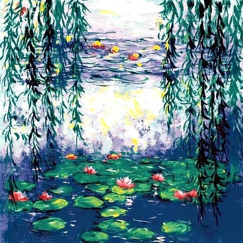 """Carré Claude Monet """"les Nénuphars"""""""