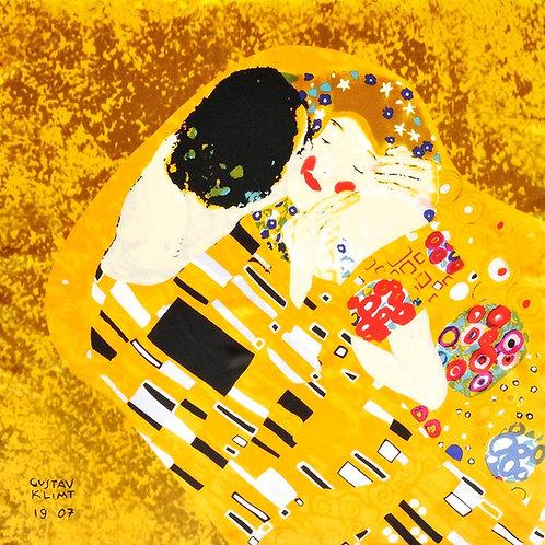 "Carré Gustav Klimt ""Le Baiser"""