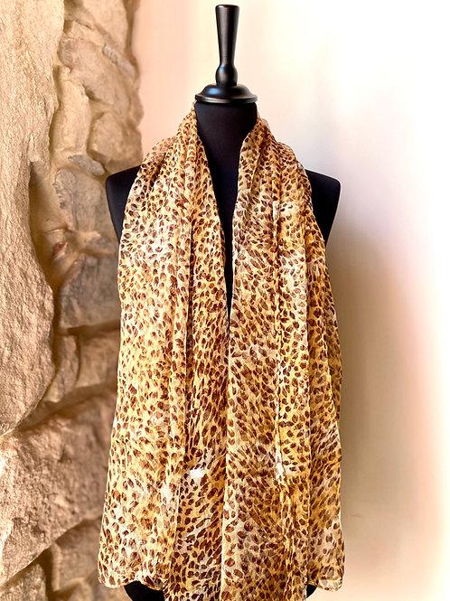 Mousseline léopard