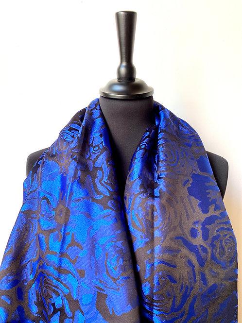 """Châle Jacquard """"Rose"""" - Les différents bleus"""