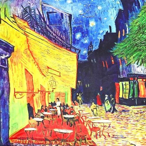 """Carré Vincent Van Gogh """"Terrasse du café le soir"""""""