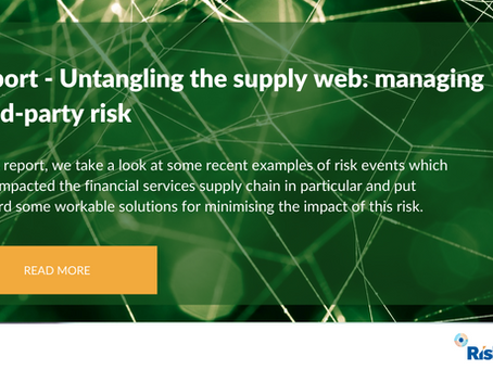 Untangling the supply web -Managing third-party and supply chain risk