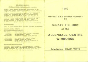 Wimborne Contest 1989 outside