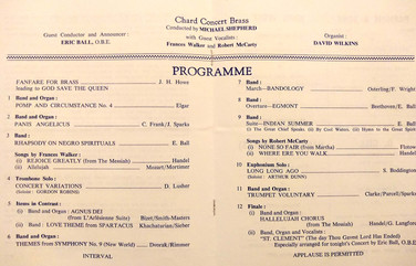 Concert programme May 1982