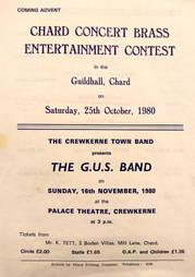 Concert flyer October 1980