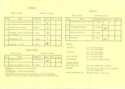 Wimborne Contest 1989 inside