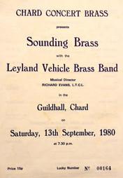 Concert programme September 1980