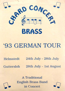 Flyer for 1993 Germany tour