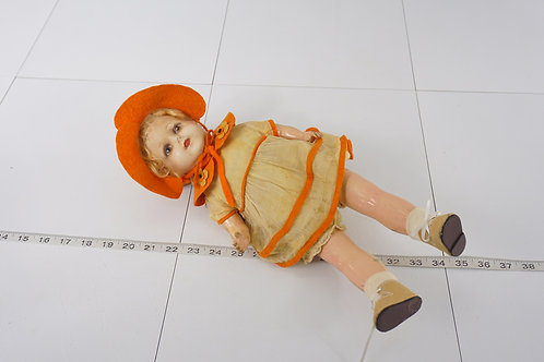 1920s Composition and Cloth Body Doll