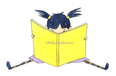 LittleGirlReadingBook