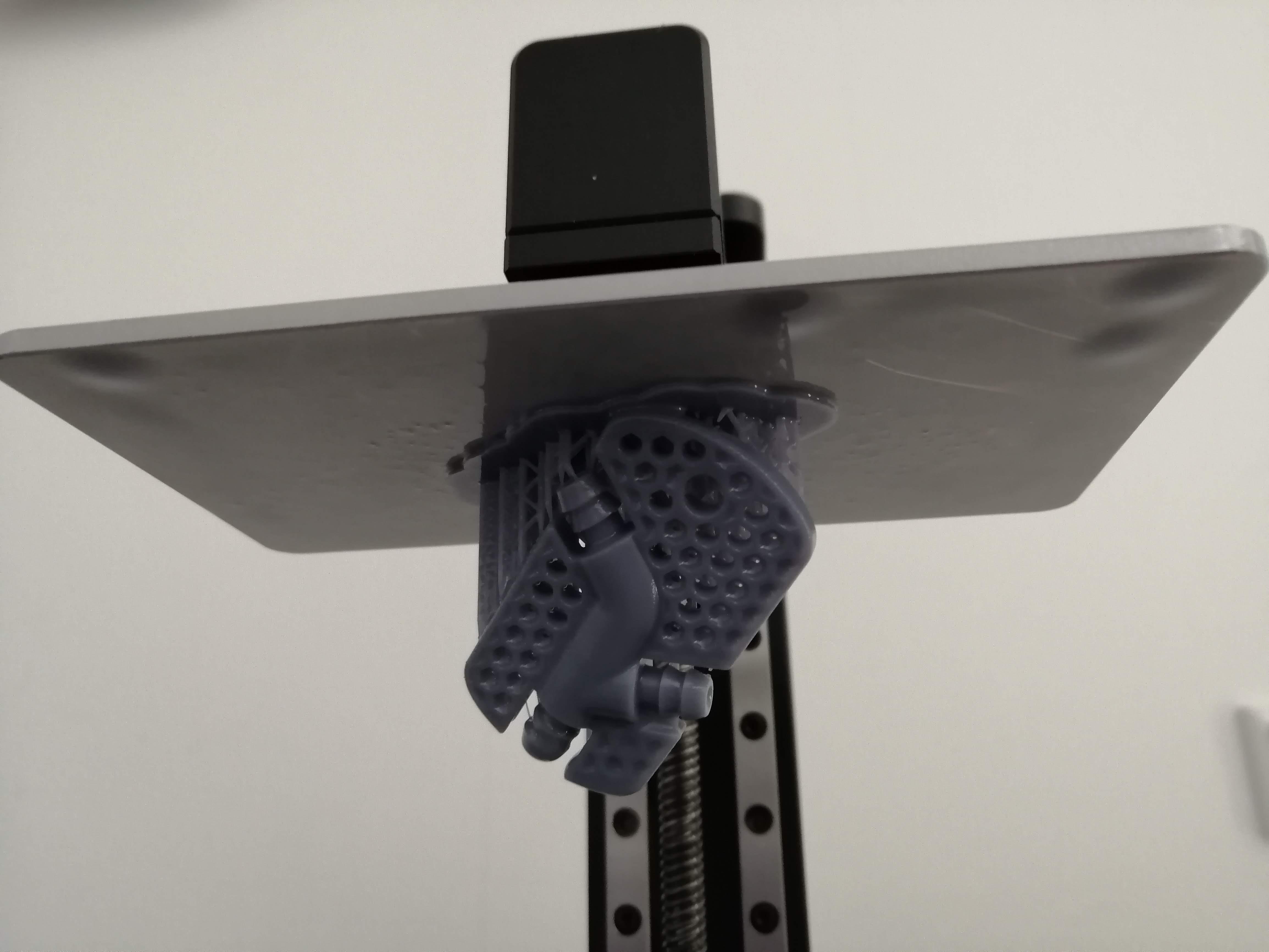 Bauteil im SLA-Drucker