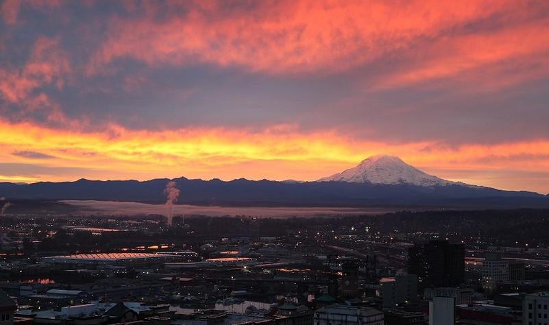 Sunrise Over Mt. Rainier