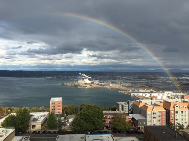 Rainbow Over Commencement Bay