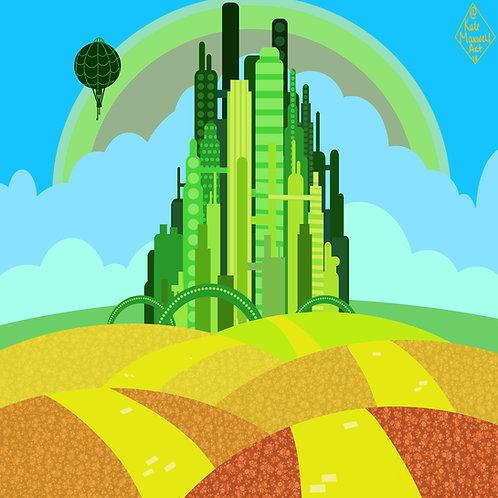 Emerald City Print (8x8)