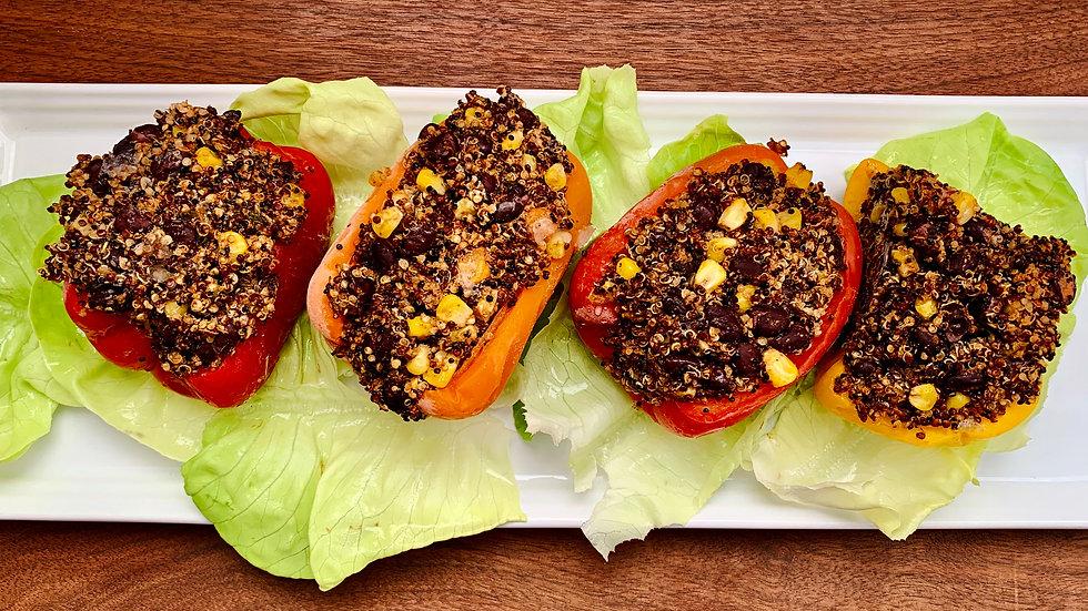 Latin Spiced Quinoa Stuffed Peppers
