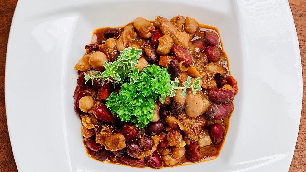 Vegan 3 Bean & Beer Chilli