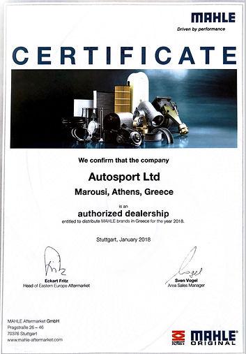 mahle-certificate-2018-autosportltd