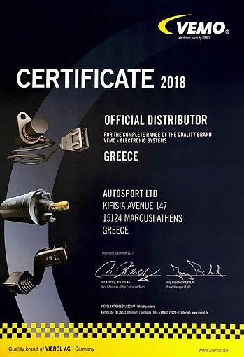 vemo-certificate-2018-autosportltd