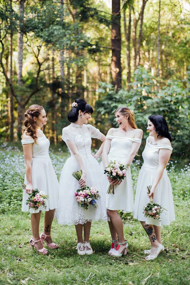 Soft Pastel Bridal Party