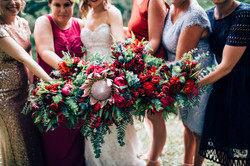 Native Berry Toned Bridal Party