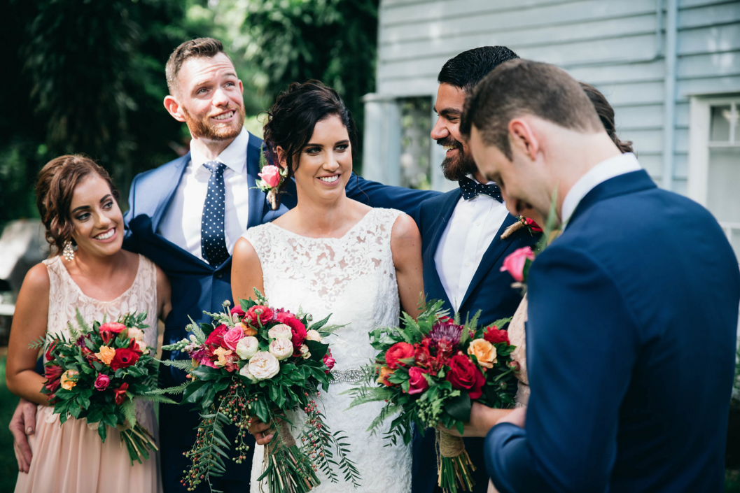 Bright Seasonal Bridal Party