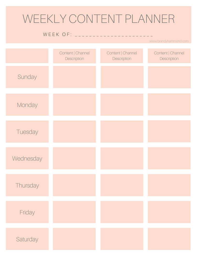 Weekly Content Planner