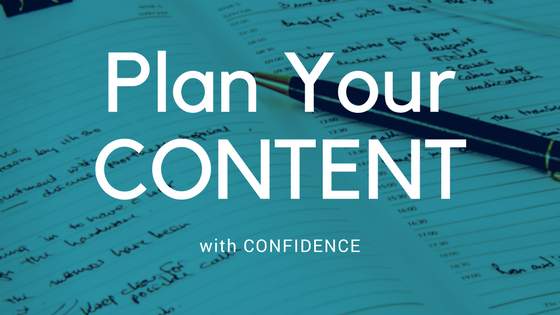 Calendar with Plan Your Content Title
