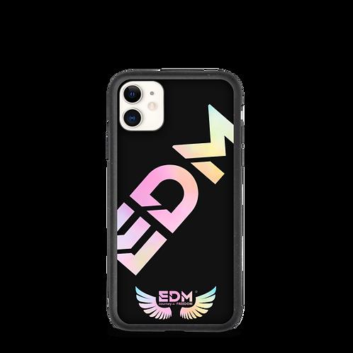 Biodegradable iphone case - EDM J to F Tye Dye Pastels Logo - Black