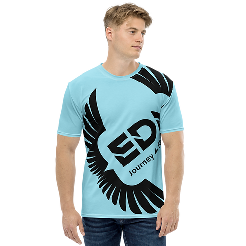 Men's T-shirt Sky Blue - EDM Journey to Freedom Large Print - Black