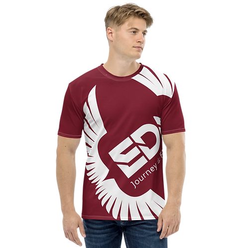 Men's T-shirt Burgundy - EDM Journey to Freedom Large Print - White