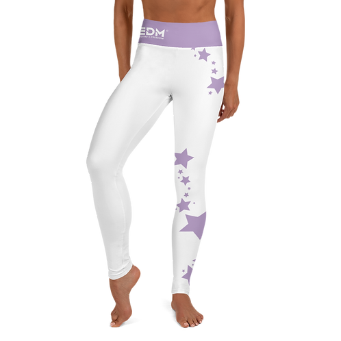 Women's Leggings Purple Star - EDM J to F White