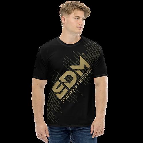 Men's T-shirt - EDM J to F Sound Bars - Gold/Black