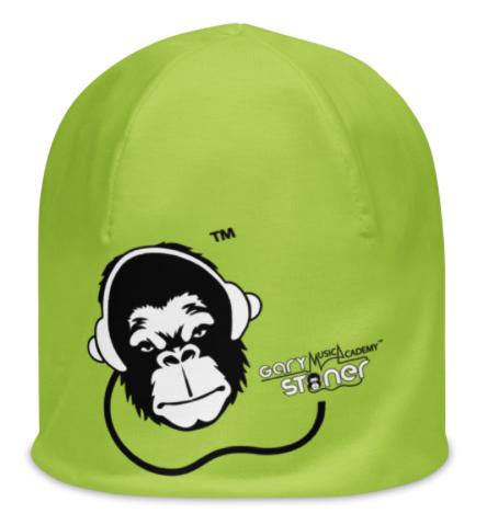 Mens / Womens Beanie - GS Music Academy Ape DJ - Green