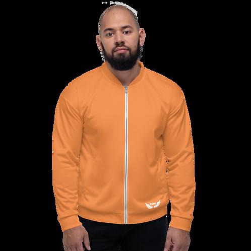Men's Unisex Fit Bomber Jacket - EDM Journey to Freedom - Orange Plain