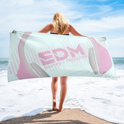 Beach Towel Pink - EDM J to F Headphones Pink / Grey - Ice Blue