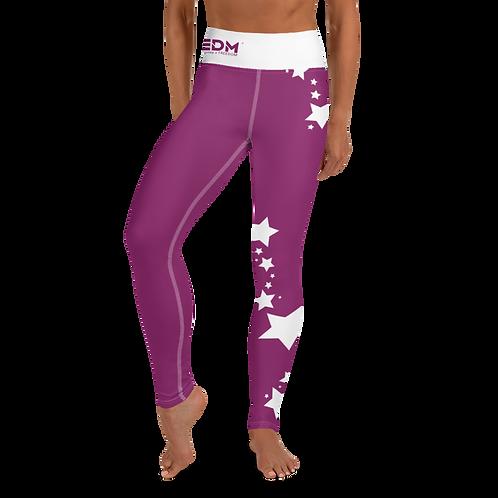 Women's Leggings White Star - EDM J to F Plum